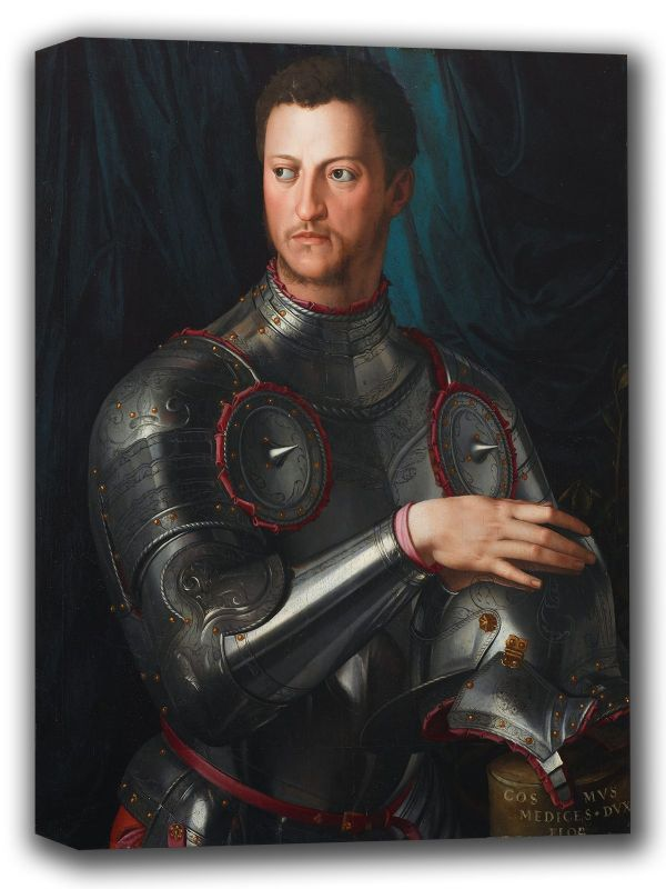 Bronzino, Agnolo: Portrait of Cosimo I de Medici in Armour. Fine Art Canvas. Sizes: A4/A3/A2/A1 (001974)
